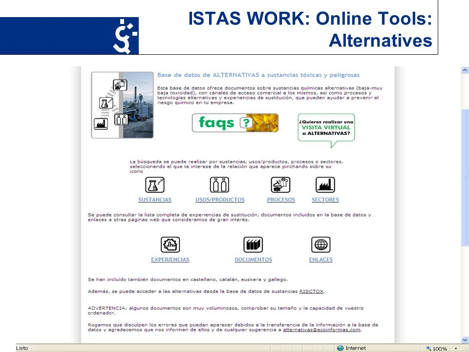 16 ISTAS WORK: Online Tools: Alternatives
