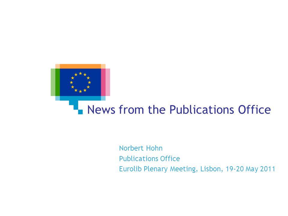 News about… Virtua OPac EUBookshop Cellar Eurovoc Metadata Registry (MDR)