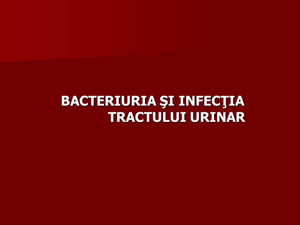 BACTERIURIA ŞI INFECŢIA TRACTULUI URINAR BACTERIURIA ŞI INFECŢIA TRACTULUI URINAR