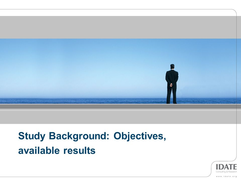3 Study Background: Objectives, available results