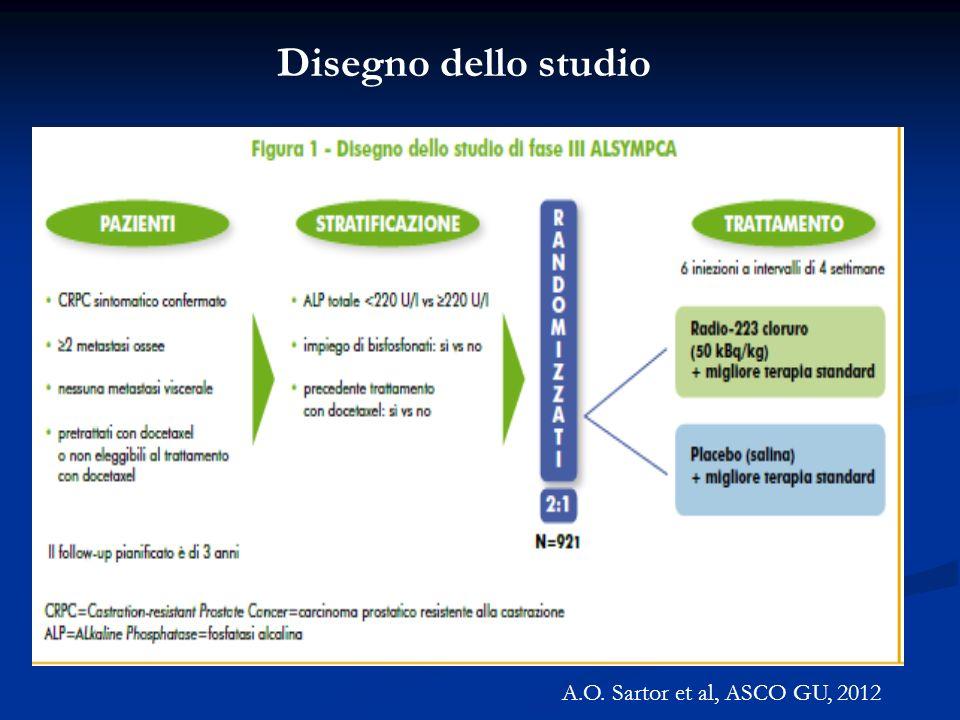 A.O. Sartor et al, ASCO GU, 2012 Disegno dello studio