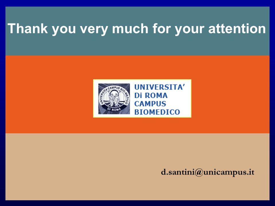 Thank you very much for your attention d.santini@unicampus.it