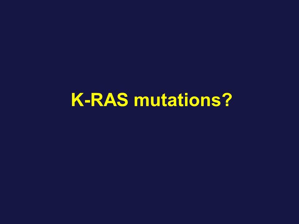 K-RAS mutations?