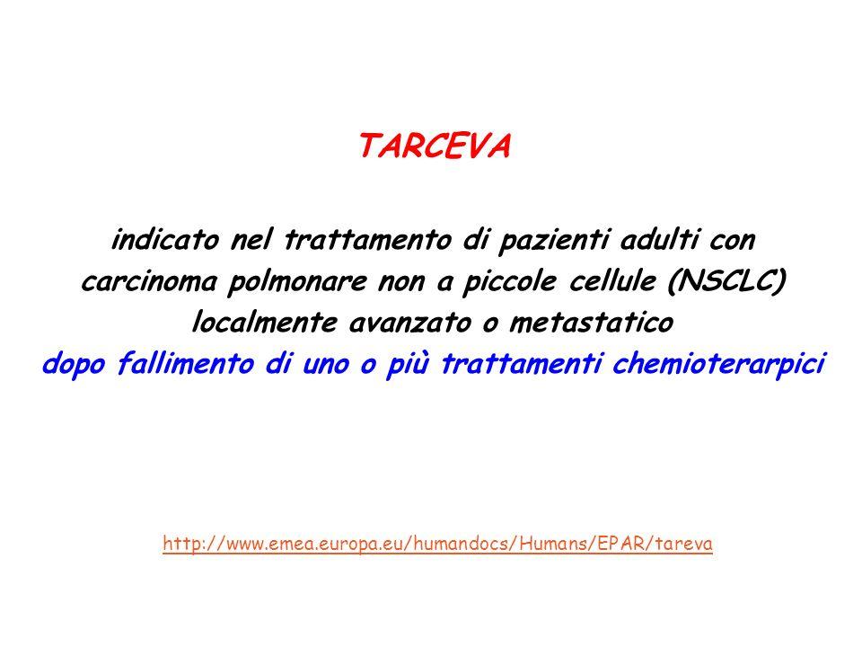 TARCEVA indicato nel trattamento di pazienti adulti con carcinoma polmonare non a piccole cellule (NSCLC) localmente avanzato o metastatico dopo falli
