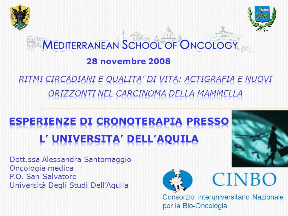Consorzio Interuniversitario Nazionale per la Bio-Oncologia Dott.ssa Alessandra Santomaggio Oncologia medica P.O.
