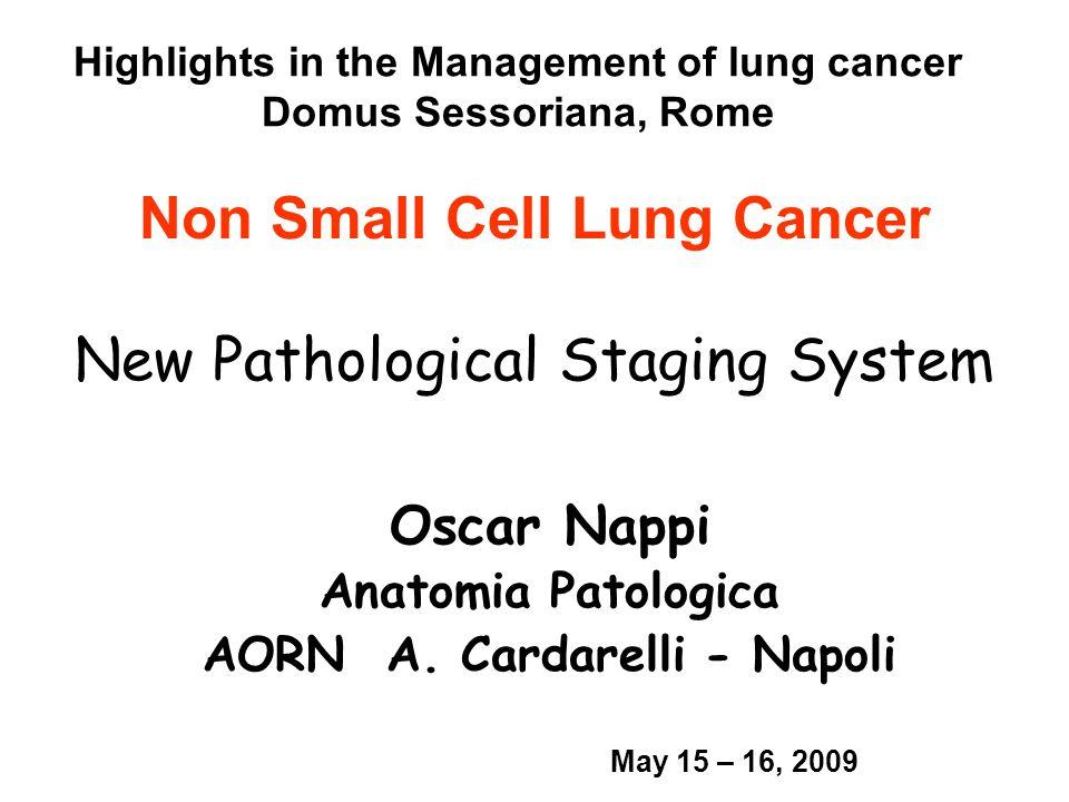 Nella nuova classificazione TNM dei tumori polmonari,la presenza di noduli separati nello stesso lobo si indica con la sigla 1.M1 2.M0+ 3.T4 4.T2c 5.T3 0 / 30 Cross-tab label