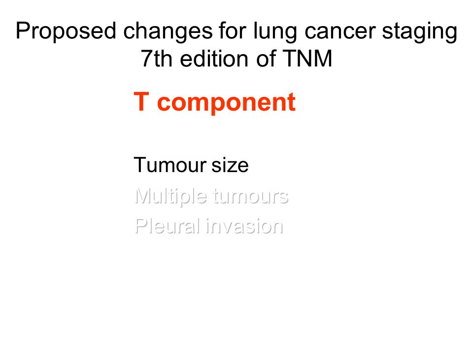 Proposed changes for lung cancer staging 7th edition of TNM