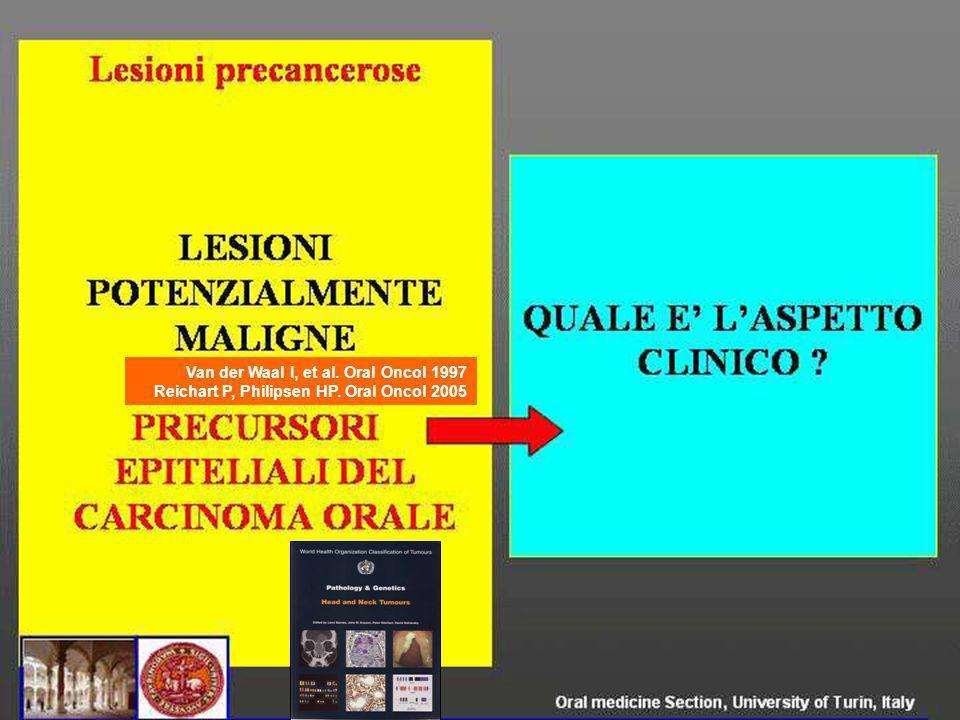 Van der Waal I, et al. Oral Oncol 1997 Reichart P, Philipsen HP. Oral Oncol 2005