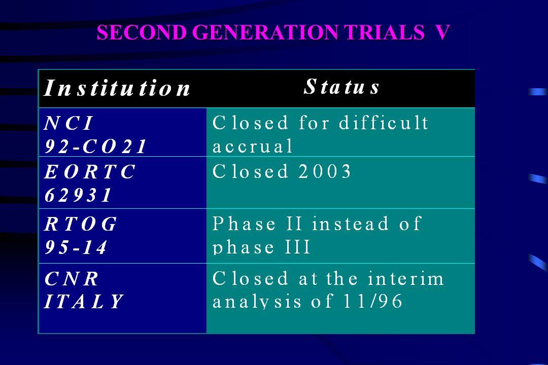SECOND GENERATION TRIALS V
