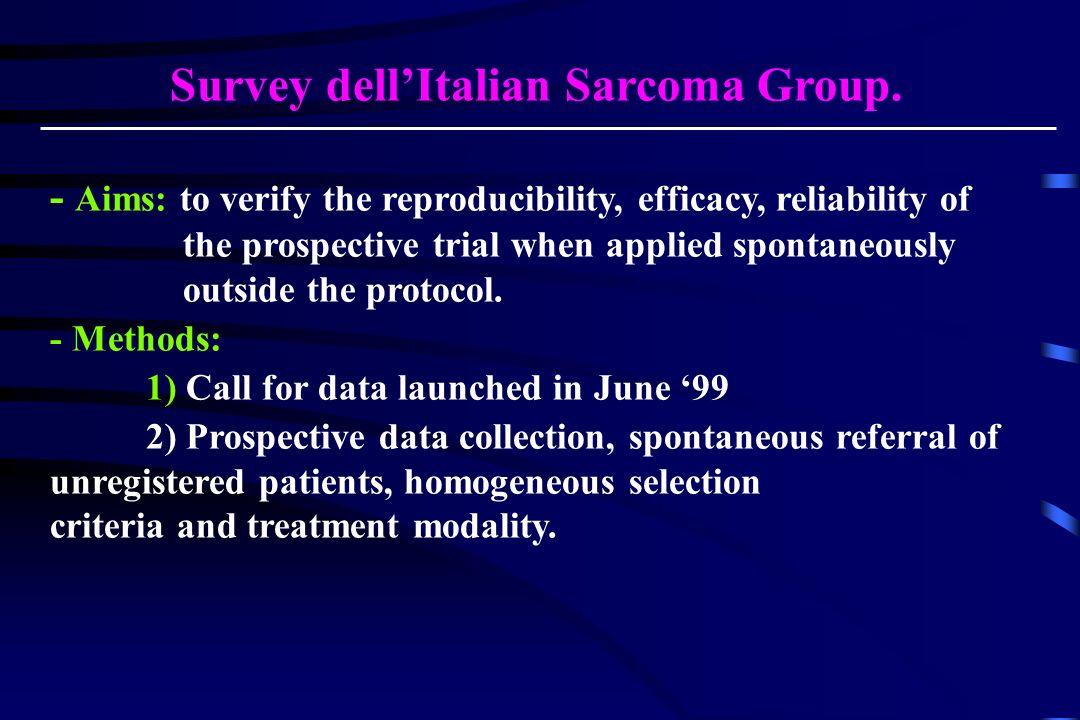 Survey dellItalian Sarcoma Group.