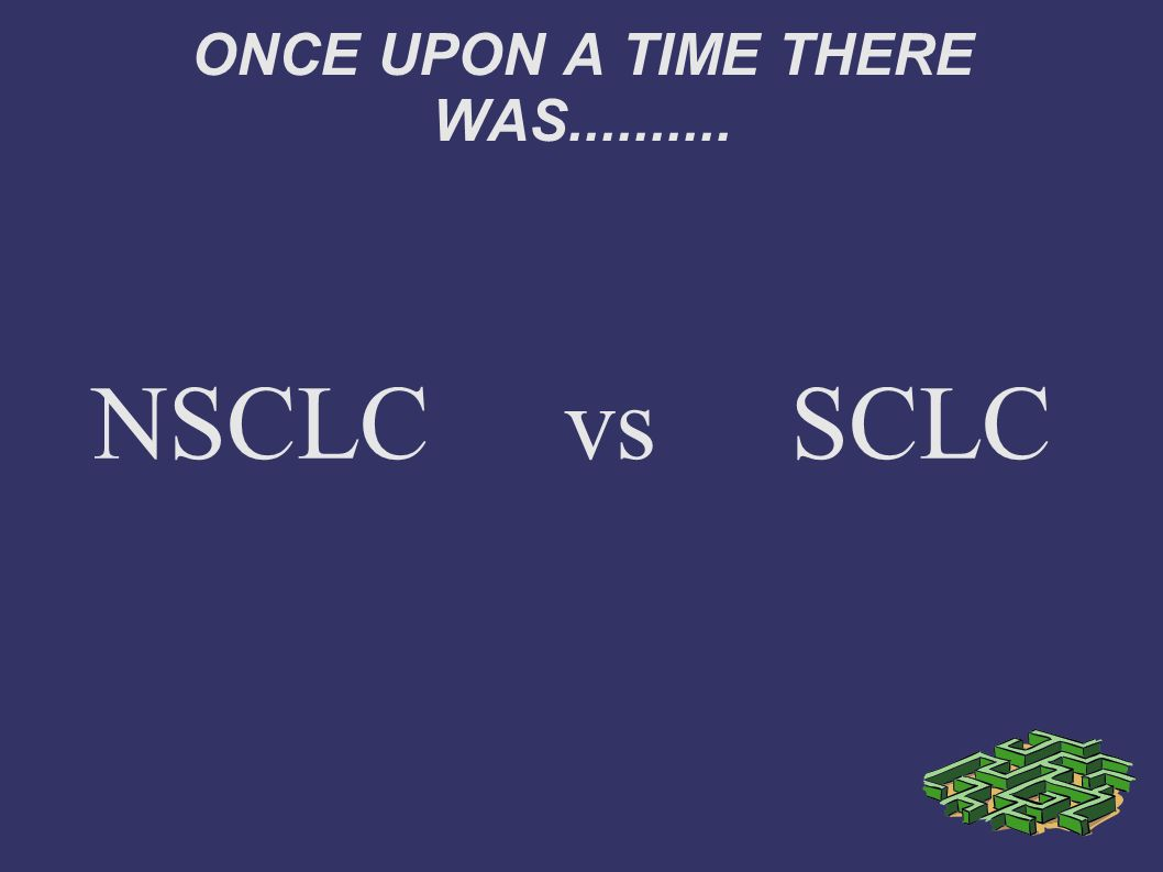 ONCE UPON A TIME THERE WAS.......... NSCLC vs SCLC