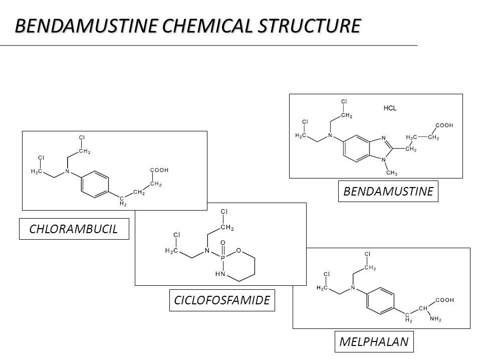 BENDAMUSTINE CICLOFOSFAMIDE CHLORAMBUCIL MELPHALAN BENDAMUSTINE CHEMICAL STRUCTURE