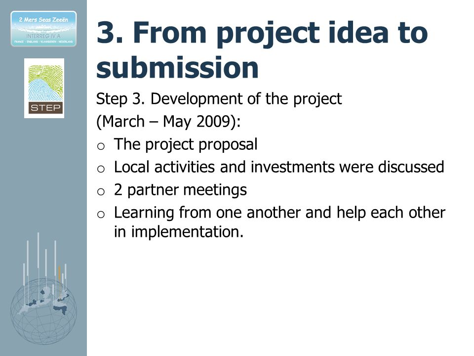 3.From project idea to submission Step 3.
