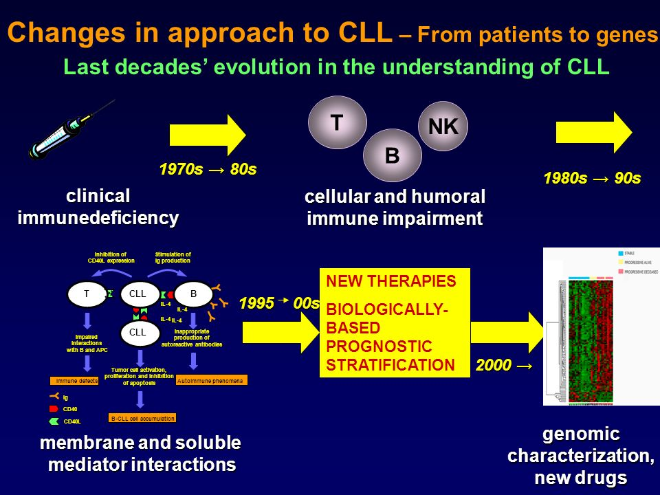 clinicalimmunedeficiency cellular and humoral immune impairment Inhibition of CD40L expression Stimulation of Ig production TB CLL Impairedinteraction