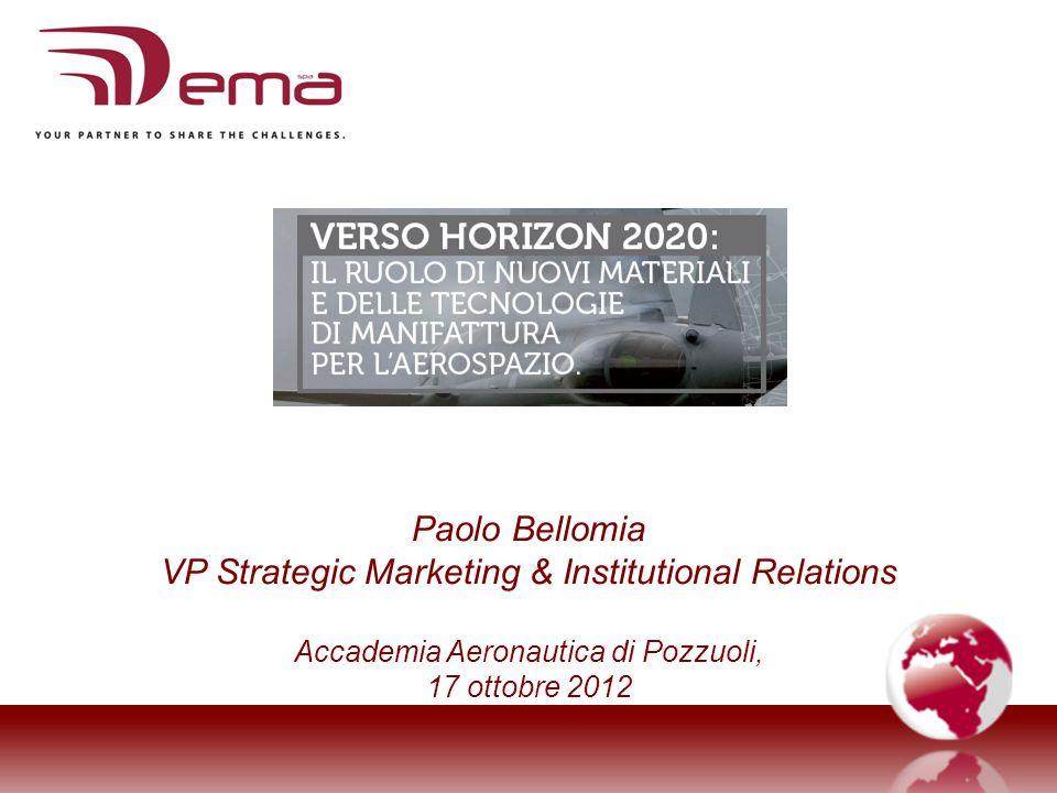 Paolo Bellomia VP Strategic Marketing & Institutional Relations Accademia Aeronautica di Pozzuoli, 17 ottobre 2012