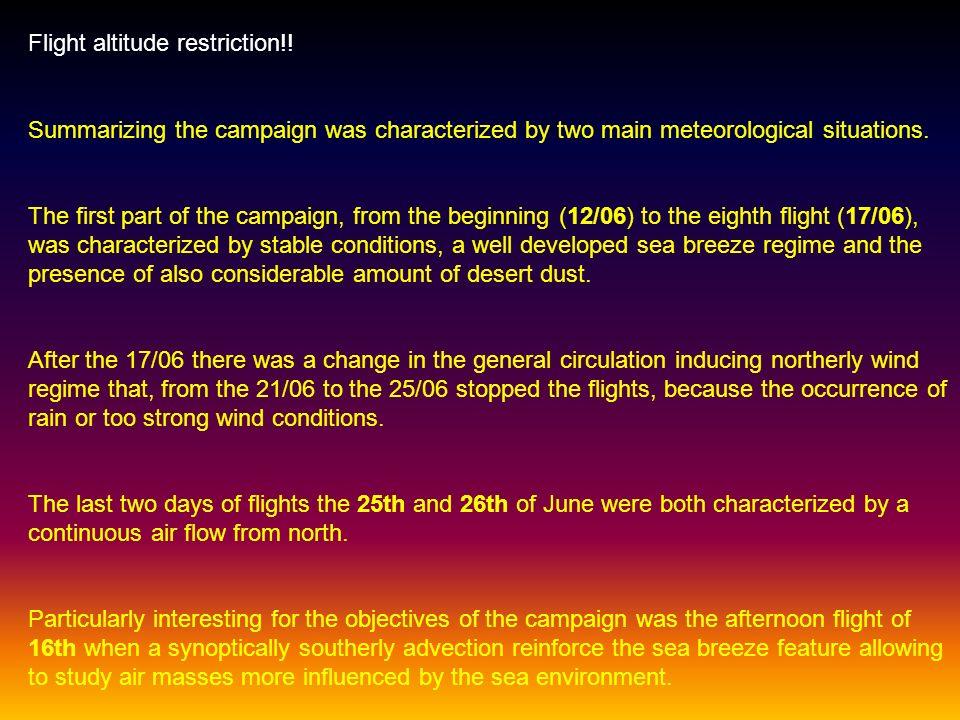 Flight altitude restriction!.