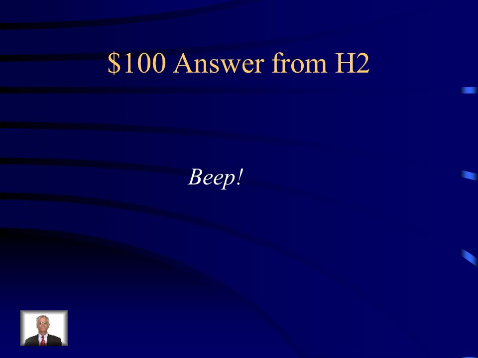 $100 Question from H2 Che suono fa il telefono in Italia