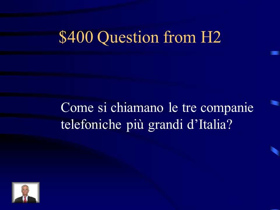 $300 Answer from H2 Ai tabacchi