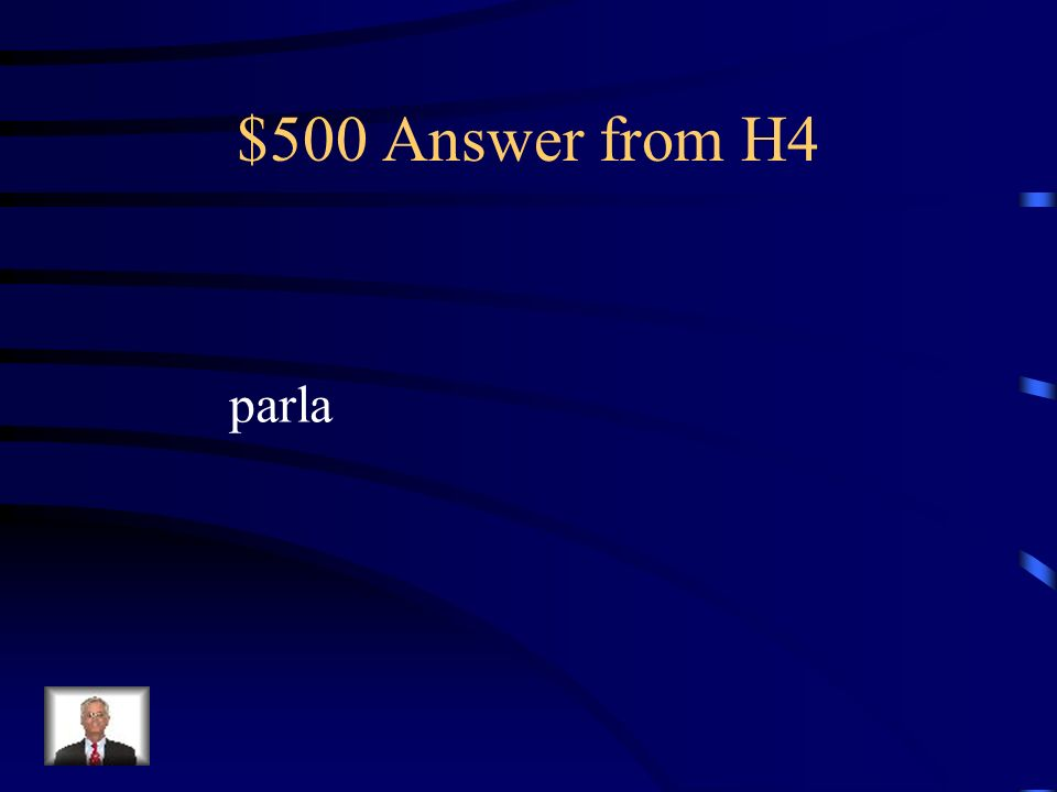 $500 Question from H4 Fill in the blank Meucci non _______ bene linglese