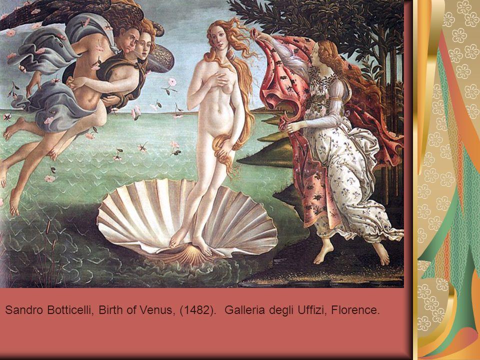 Sandro Botticelli, Birth of Venus, (1482). Galleria degli Uffizi, Florence.