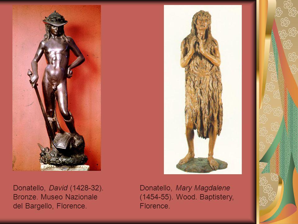 Donatello, David (1428-32). Bronze. Museo Nazionale del Bargello, Florence.