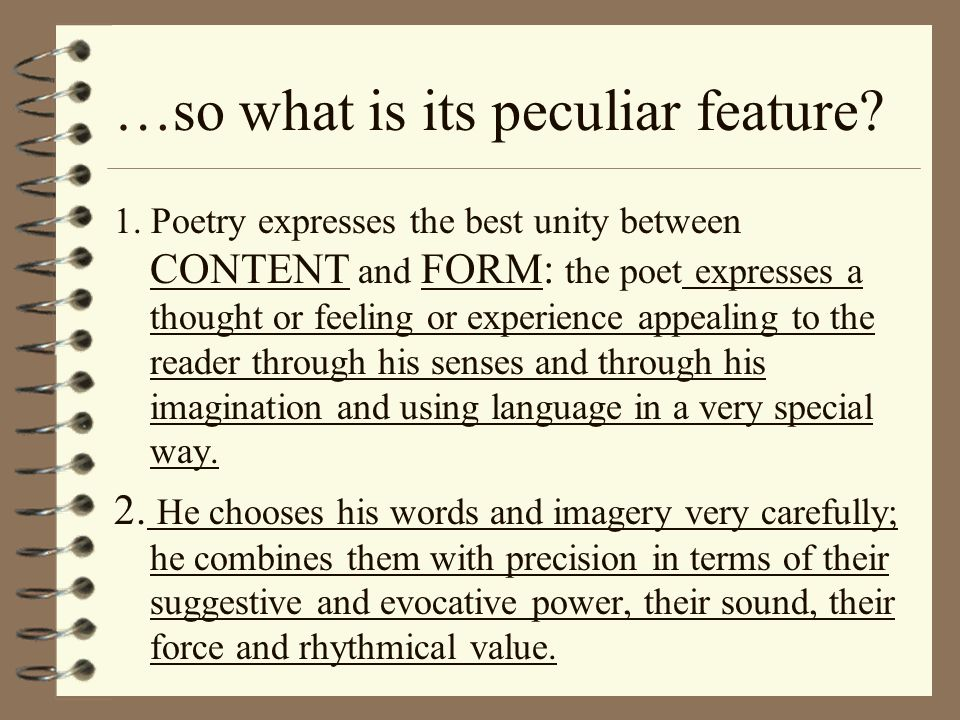 …so what is its peculiar feature.1.