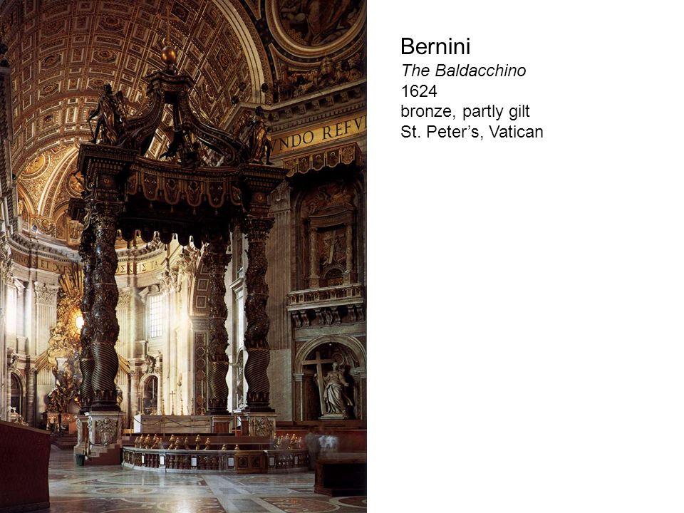 Bernini The Baldacchino 1624 bronze, partly gilt St. Peters, Vatican