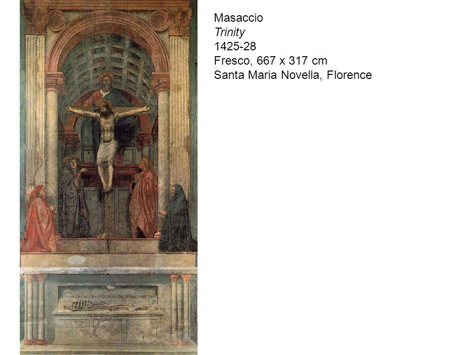 Masaccio Trinity 1425-28 Fresco, 667 x 317 cm Santa Maria Novella, Florence