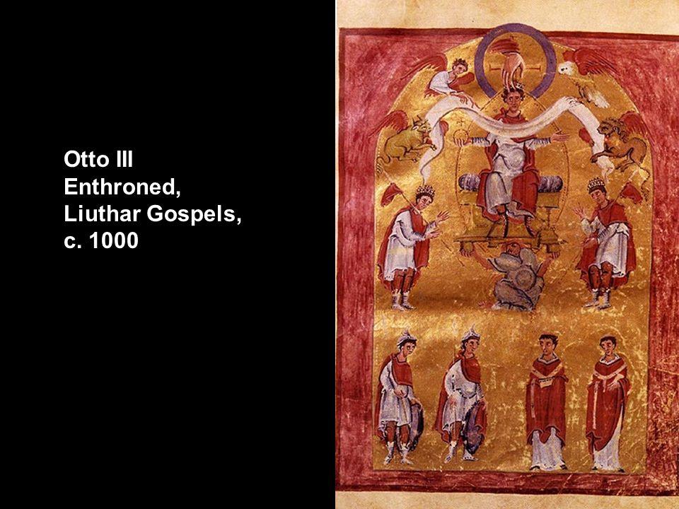 Otto III Enthroned, Liuthar Gospels, c. 1000