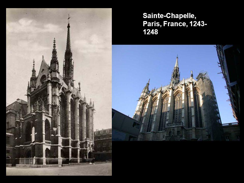 Sainte-Chapelle, Paris, France, 1243- 1248