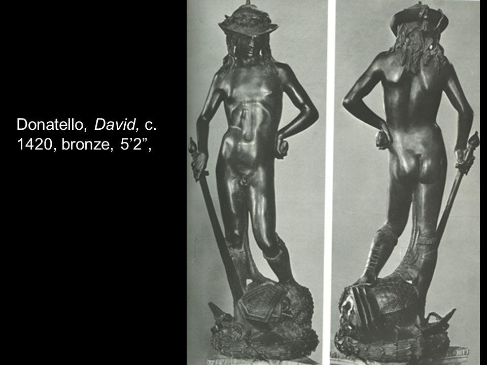 Donatello, David, c. 1420, bronze, 52,