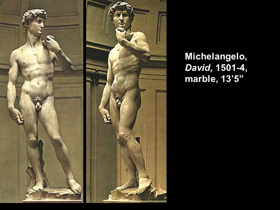Michelangelo, David, 1501-4, marble, 135
