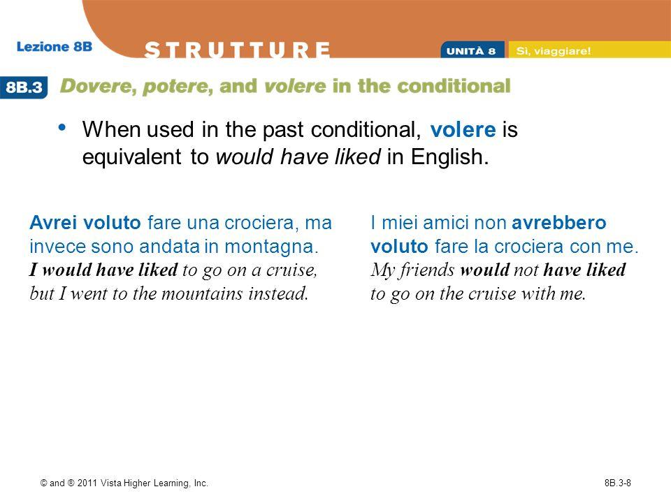 © and ® 2011 Vista Higher Learning, Inc.8B.3-9 Signorina, avrebbe voluto visitare i monumenti.