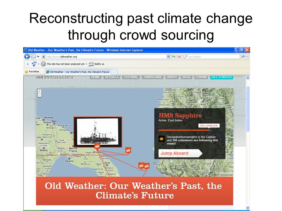 Reconstructing past climate change through crowd sourcing