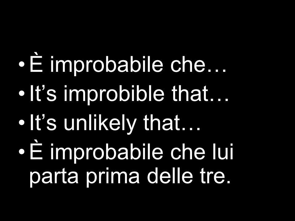 È inopportuno che … Its inappropriate or unsuitable that… È inopportuno che loro siano cosí difficili.