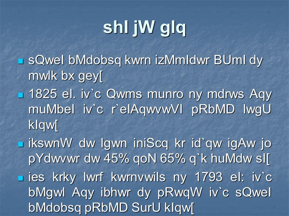 KwlI QwvW Bro 1777 eI. iv`c aus ny pMj swlW Tyky dI QW ie`k swl pRbMD SurU kIqw[ 1777 eI.