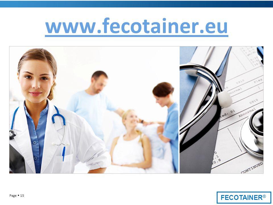 FECOTAINER ® Page 15 www.fecotainer.eu