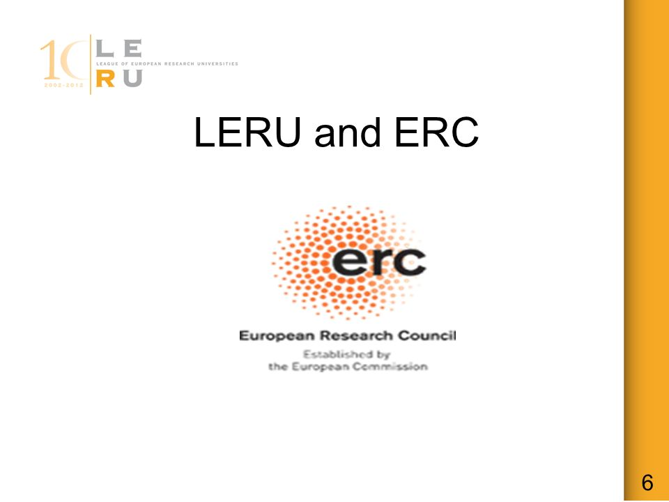 LERU and ERC 6