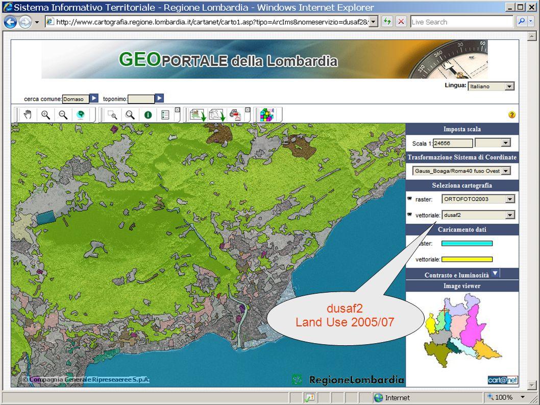 Regione Lombardia SDI dusaf2 Land Use 2005/07