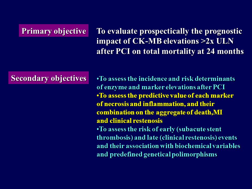 Epidemiology and prognostic impact of biochemical marker elevations after percutaneous coronary interventions A multicenter survey sponsored by the It