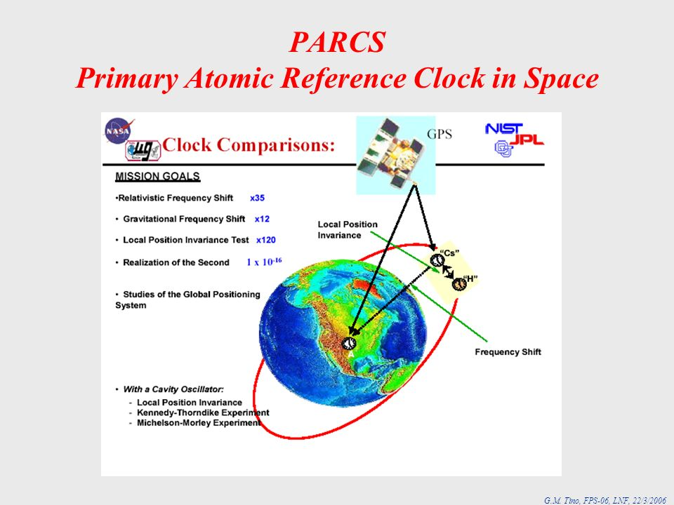 G.M. Tino, FPS-06, LNF, 22/3/2006 PARCS Primary Atomic Reference Clock in Space