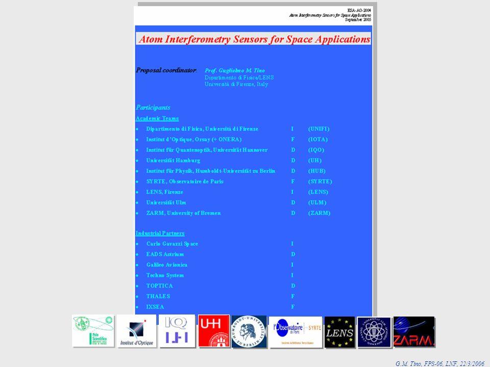 G.M. Tino, FPS-06, LNF, 22/3/2006 ESA-AO-2004 AI