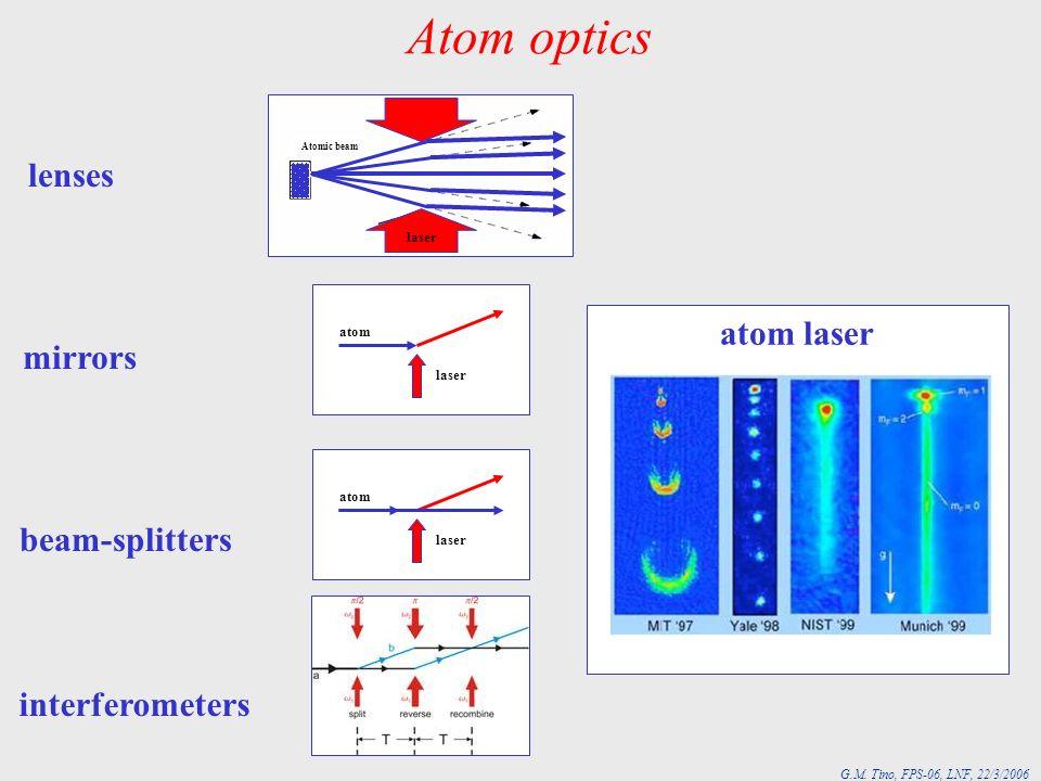 G.M.Tino, FPS-06, LNF, 22/3/2006 Interferometer MOT 1 15 cm 3 mm A Preparation Detection MOT 2 C.