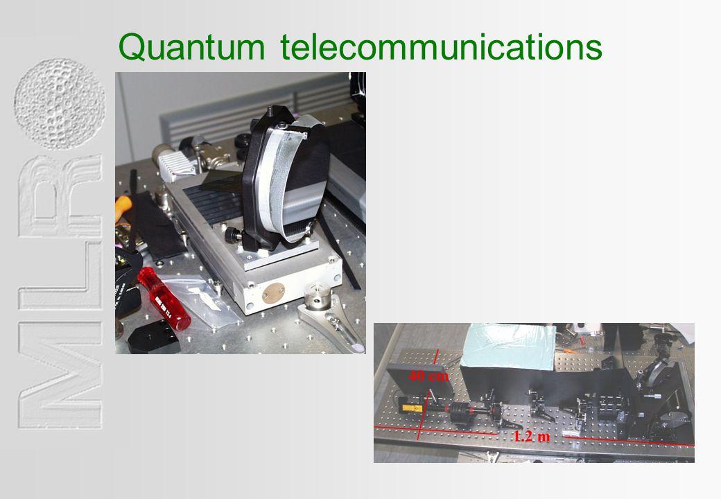 Quantum telecommunications