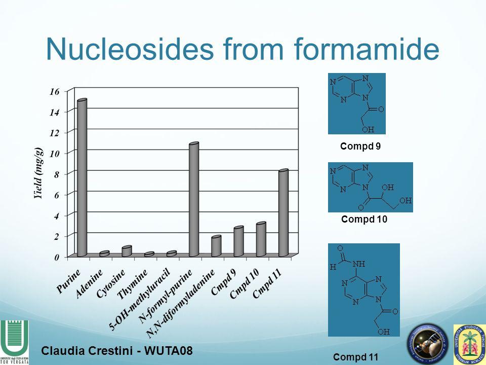 Compd 9 Compd 10 Compd 11 Nucleosides from formamide Claudia Crestini - WUTA08