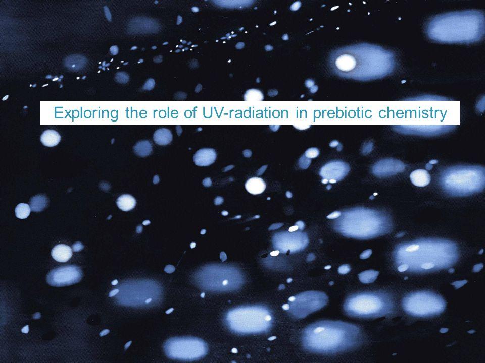 Exploring the role of UV-radiation in prebiotic chemistry
