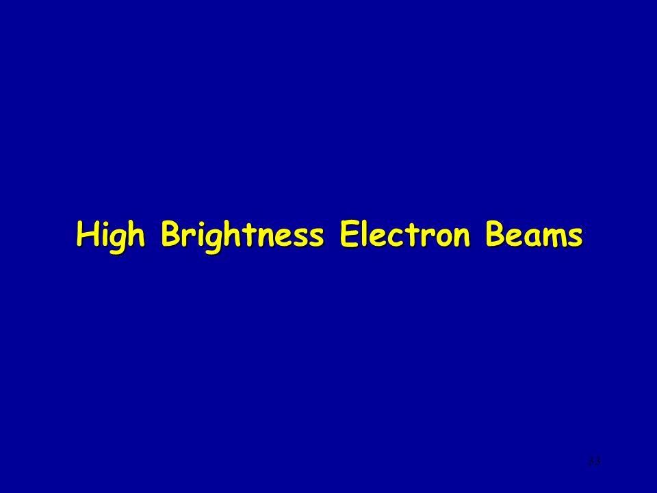 33 High Brightness Electron Beams