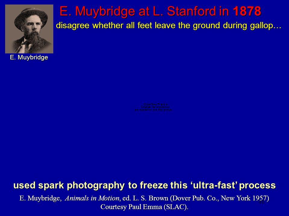 46 E. Muybridge at L. Stanford in 1878 E. Muybridge, Animals in Motion, ed. L. S. Brown (Dover Pub. Co., New York 1957) Courtesy Paul Emma (SLAC). use