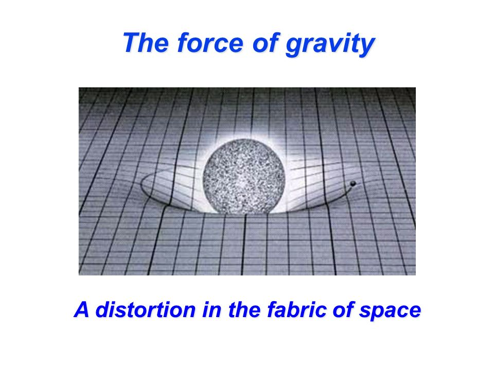 The force of gravity A distortion in the fabric of space