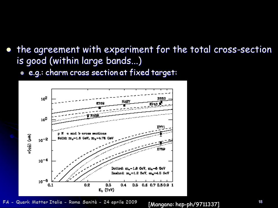 18 the agreement with experiment for the total cross-section is good (within large bands...) the agreement with experiment for the total cross-section